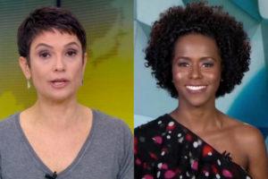 Sandra Annemberg foi trocada por Maju Coutinho no Jornal Hoje pela Globo (Foto: Montagem)