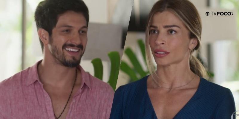 Paloma não resiste ao charme de Marcos e o beija em cena de Bom Sucesso