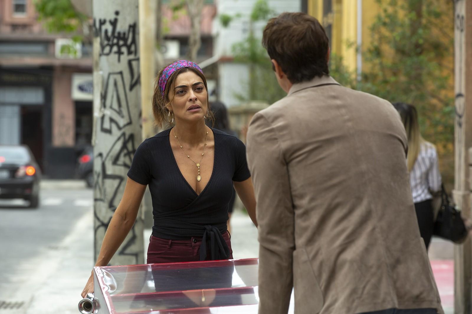 Maria da Paz e Régis em cena da novela A Dona do Pedaço (Foto: Divulgação)