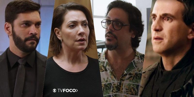 Foto montagem feita pelo site TV Foco dos personagens de Bom Sucesso Diogo, Nana, Mario e Jorginho