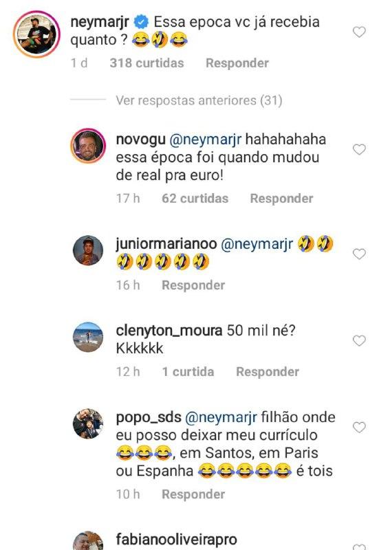 Neymar falou sobre a polêmica envolvendo o salário