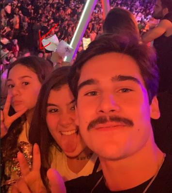 Respectivamente, da esquerda para direita: a irmã Maria Fernanda, Giulia e Nicolas Prattes (Foto: Reprodução/ Instagram)