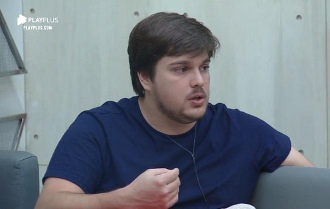 Lucas Salles no reality Power Couple Brasil da Record tv (Reprodução: PlayPlus)
