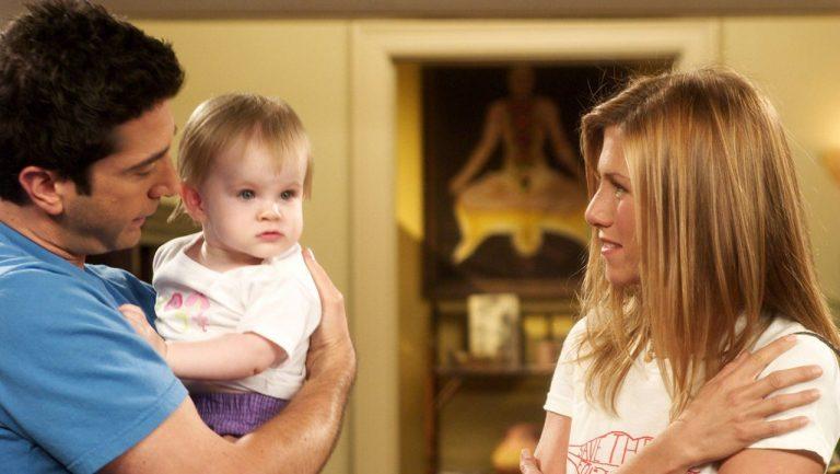 Rachel, Ross e a filha Emma (Foto: Reprodução)