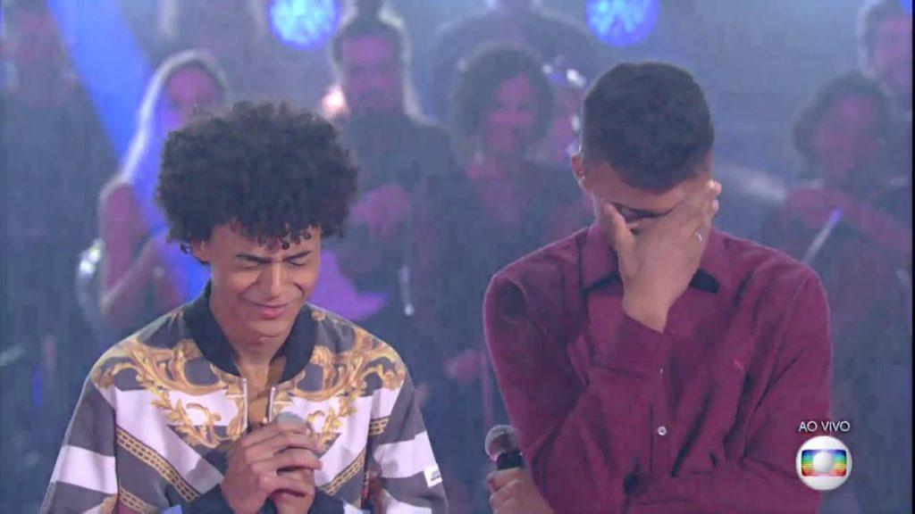 Ramom e Rafael no The Voice Brasil (Foto: Reprodução)