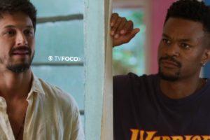 Em uma foto montagem feita pelo site TV Foco, o personagens de Bom Sucesso Ramon e Marcos se encaram