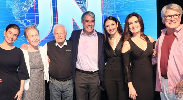 Sérgio Chapelin, Cid Moreira e William Bonner foram âncoras do Jornal Nacional na Globo (Reprodução)