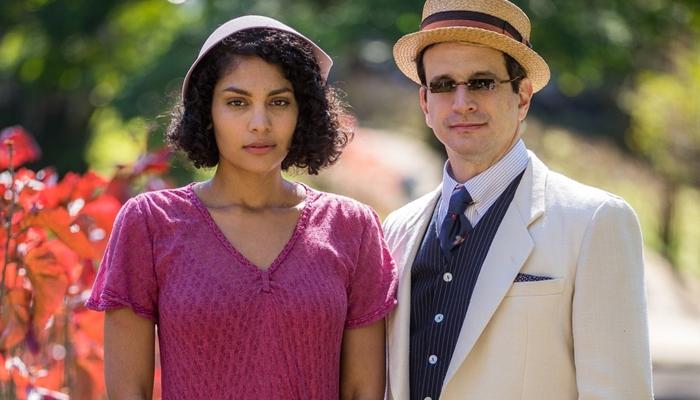 Barbara Reis (Shirley) e Caco Ciocler (João Aranha) no remake da novela Éramos Seis (Foto: Globo/Raquel Cunha)