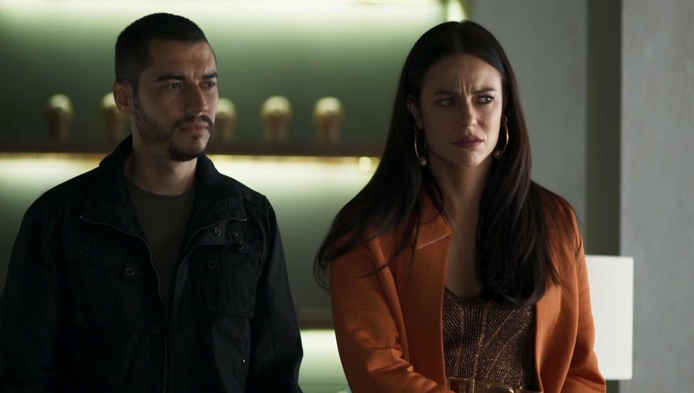 Camilo e Vivi Guedes em cena da novela A Dona do Pedaço (Foto: Reprodução)
