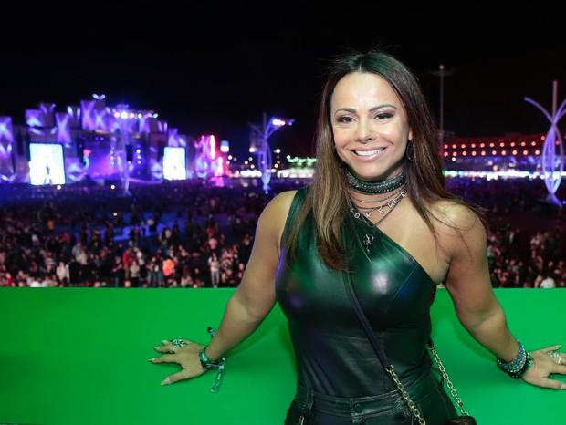 Viviane Araújo no Rock in Rio 2019 (Foto: Reprodução)