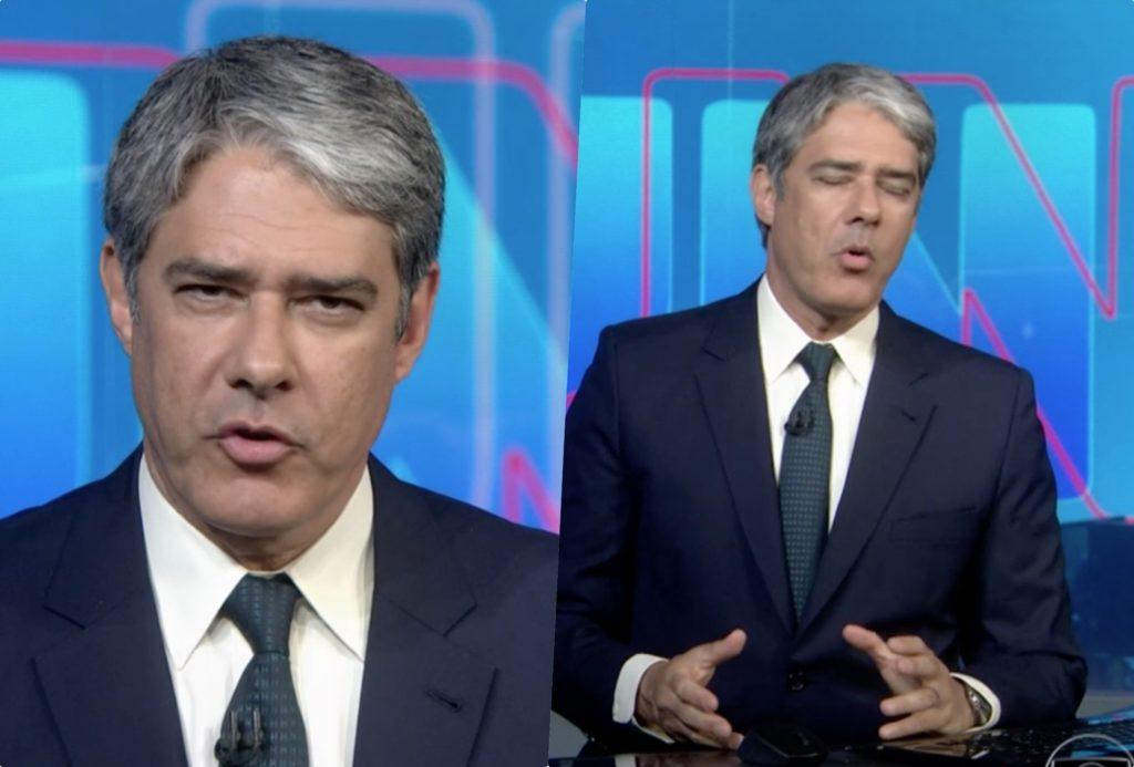 William Bonner, no comando do Jornal Nacional na Globo