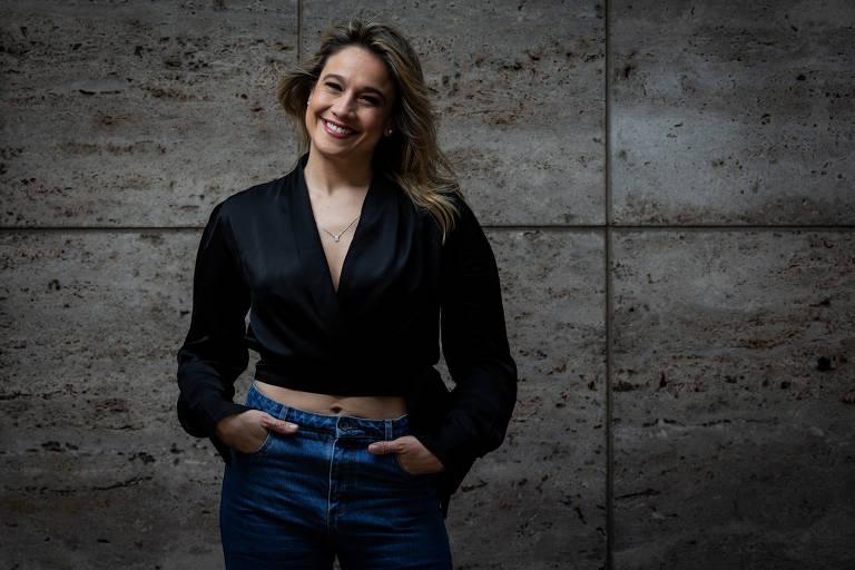 A apresentadora Fernanda Gentil (Foto: Reprodução/Folha de S.Paulo)