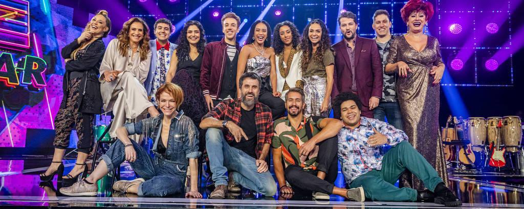 PopStar com Taís Araújo não estreia ao vivo, coloca participantes experientes na música e repete jurados técnicos (Reprodução: TV Globo)