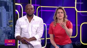 Érico Brás e Fernanda Gentil no comando do Se Joga, que fechou mais uma semana em segundo lugar na audiência (Foto: Reprodução/Globo)