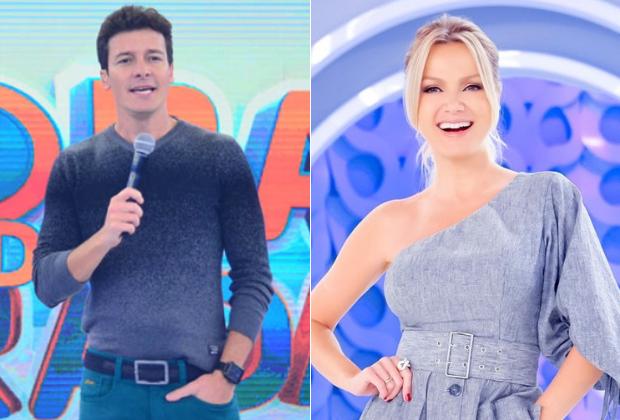 Rodrigo Faro e Eliana são símbolos da briga entre Record e SBT aos domingos (Foto: Montagem)