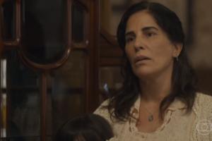 Gloria Pires (Lola) em cena de Éramos Seis, que cresceu em audiência (Foto: Reprodução/Globo)