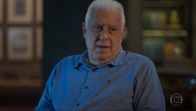 Alberto (Antonio Fagundes) em Bom Sucesso, novela das sete da Globo (Foto: Reprodução/Globo)