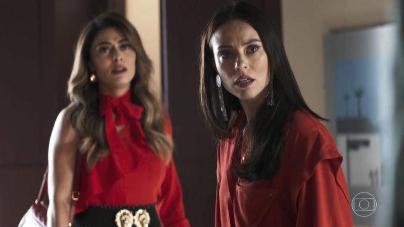Vivi (Paolla Oliveira) e Maria da Paz (Juliana Paes) em A Dona do Pedaço (Foto: Reprodução/Globo)