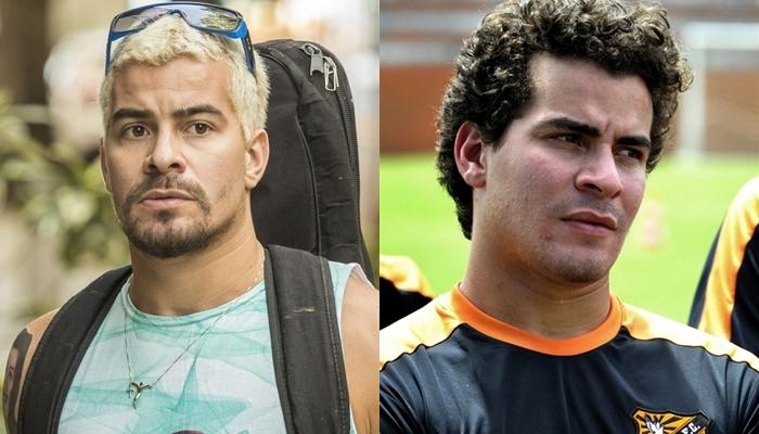 Thiago Martins como Ryan em Amor de Mãe e Leandro em Avenida Brasil (Foto: Globo/João Cotta/Estevam Avellar)