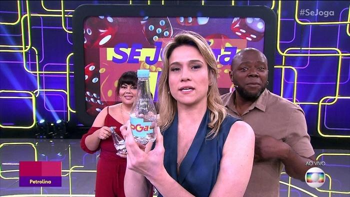 Fernanda Gentil globo com Fabiana Karla e Érico Brás no Se Joga (Foto: Reprodução/Globo)