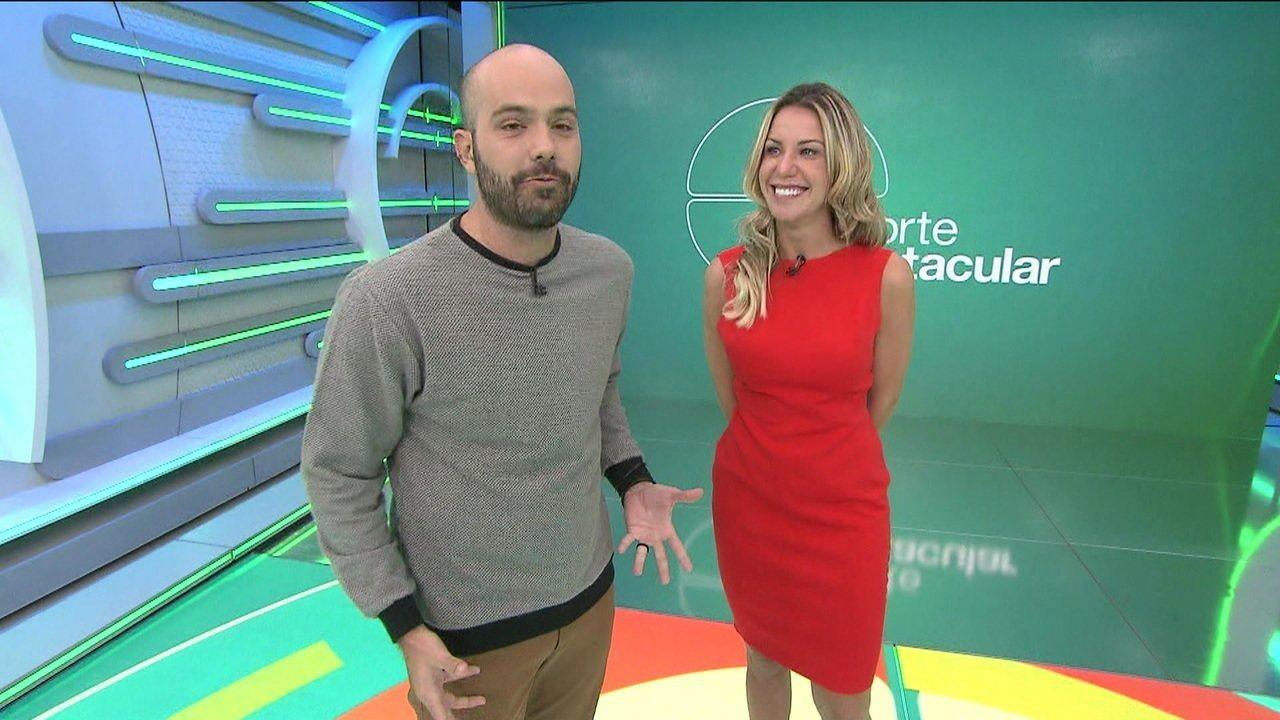 Os apresentadores do Esporte Espetacular, programa da Globo (Foto: Reprodução)