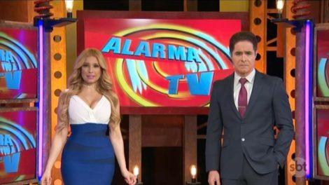 Jorge Antolín e Janice Villagrán no Alarma TV (Foto: Reprodução)
