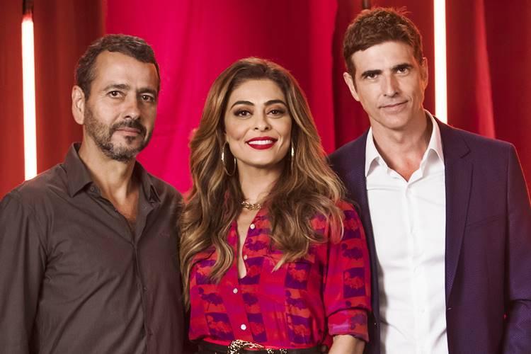 Amadeu (Marcos Palmeira) luta com Régis (Reynaldo Gianecchini) pelo amor de Maria da Paz (Juliana Paes) em A Dona do Pedaço (Reprodução: TV Globo)