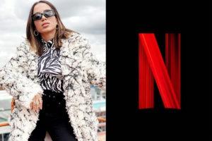 Anitta pede atriz da Netflix em casamento (Montagem: TV Foco)