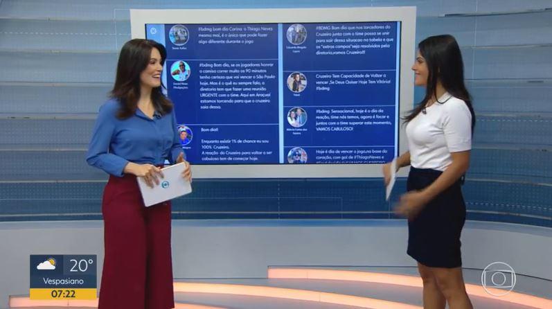 Liliana Junger e Carina Pereira no Bom Dia Minas, da TV Globo (Foto: Reprodução/Globoplay)