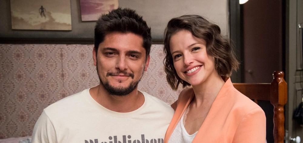A atriz da Globo, Agatha Moreira e Bruno Gissoni em A Dona do Pedaço (foto: Divulgação Globo)
