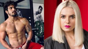 Monica Iozzi fala sobre Caio Castro no Se Joga para Fernanda Gentil (Foto: Montagem TV Foco)