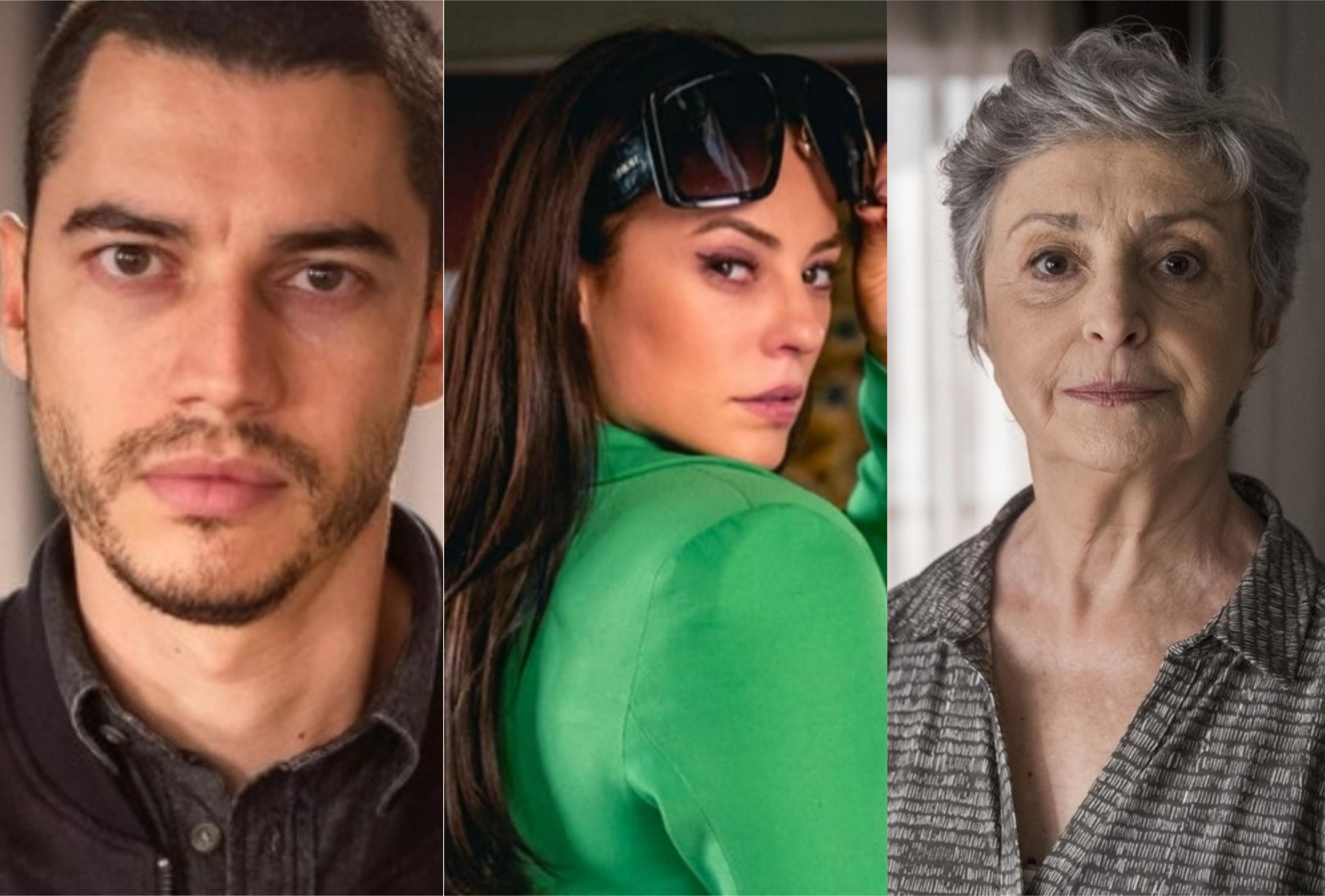 Camilo (Lee Taylor), Vivi Guedes (Paolla Oliveira) e Berta (Ana Lucia Torre) em A Dona do Pedaço