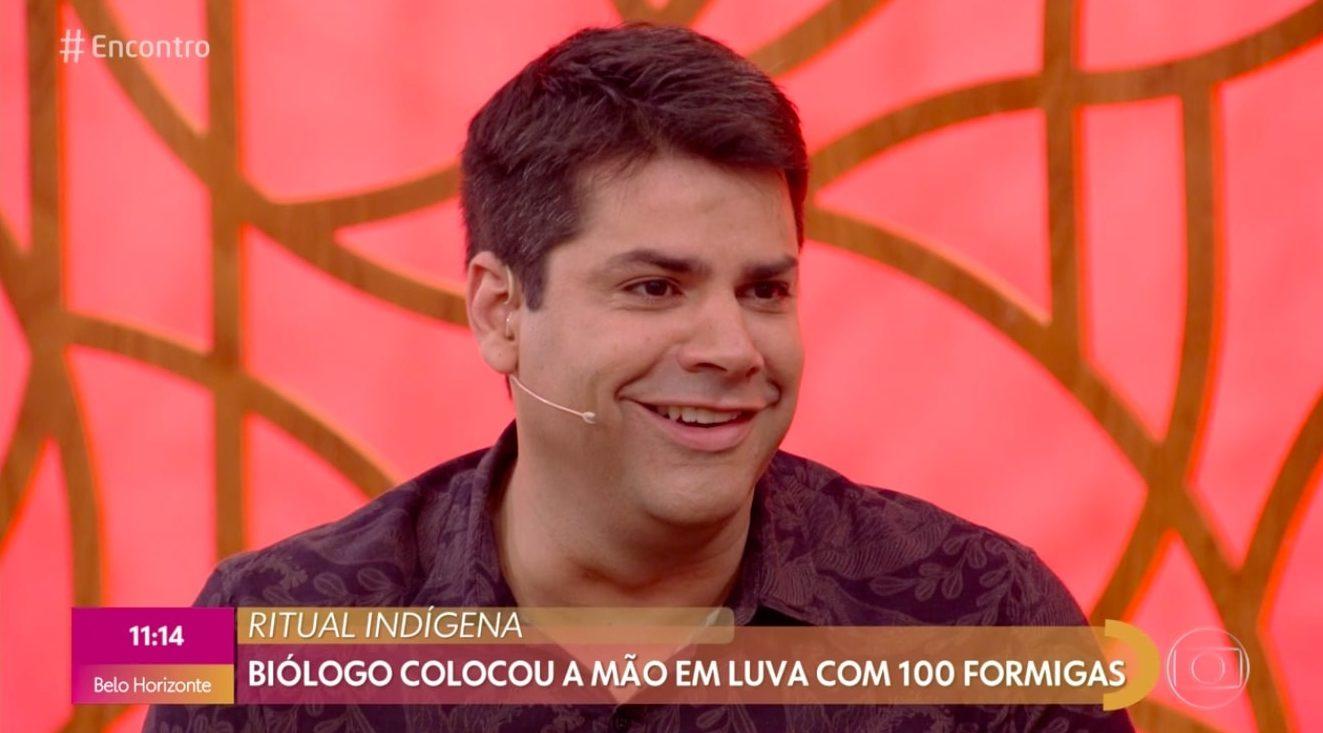 Lair Rennó no programa da Fátima Bernardes (Foto: Reprodução/ Globoplay)