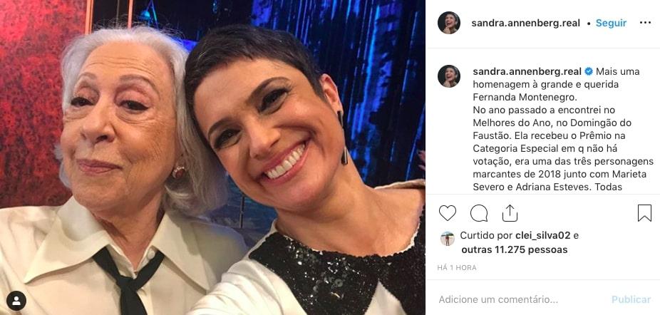 Sandra Annenberg, Fernanda Montenegro
