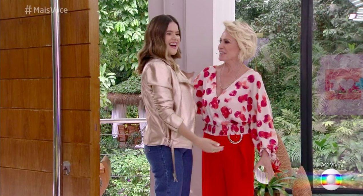 Ana Maria Braga recepcionou Maisa Silva na Globo (Reprodução/Globoplay)