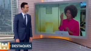 César Tralli e Maju Coutinho (Foto: Reprodução/Globoplay)