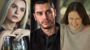 Camilo (Lee Taylor) proíbe Vivi Guedes (Paolla Oliveira) de ser madrinha de casamento de Kim (Monica Iozzi) em A Dona do Pedaço (Montagem: TV Foco)