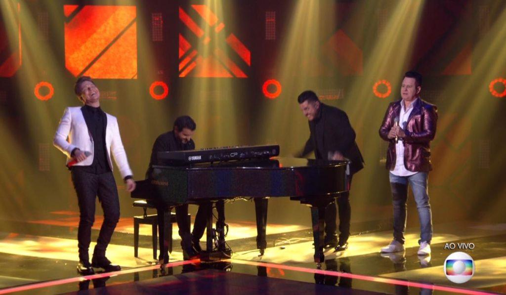 Bruno e Marrone no The Voice Brasil (Foto: Reprodução)