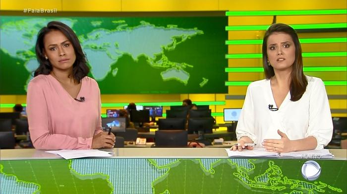 Roberta Piza e Salcy Lima no novo cenário do Fala Brasil (Foto: Reprodução/Record)