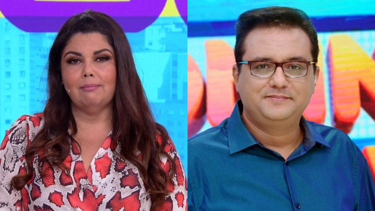 globo se joga Fabiana Karla e Geraldo Luís (Foto: Reprodução/Globoplay/Record/Montagem TV Foco)