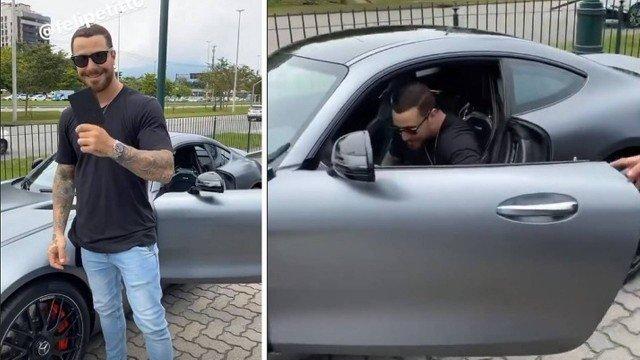 Felippe Titto comprou um novo carro (Foto: Reprodução)