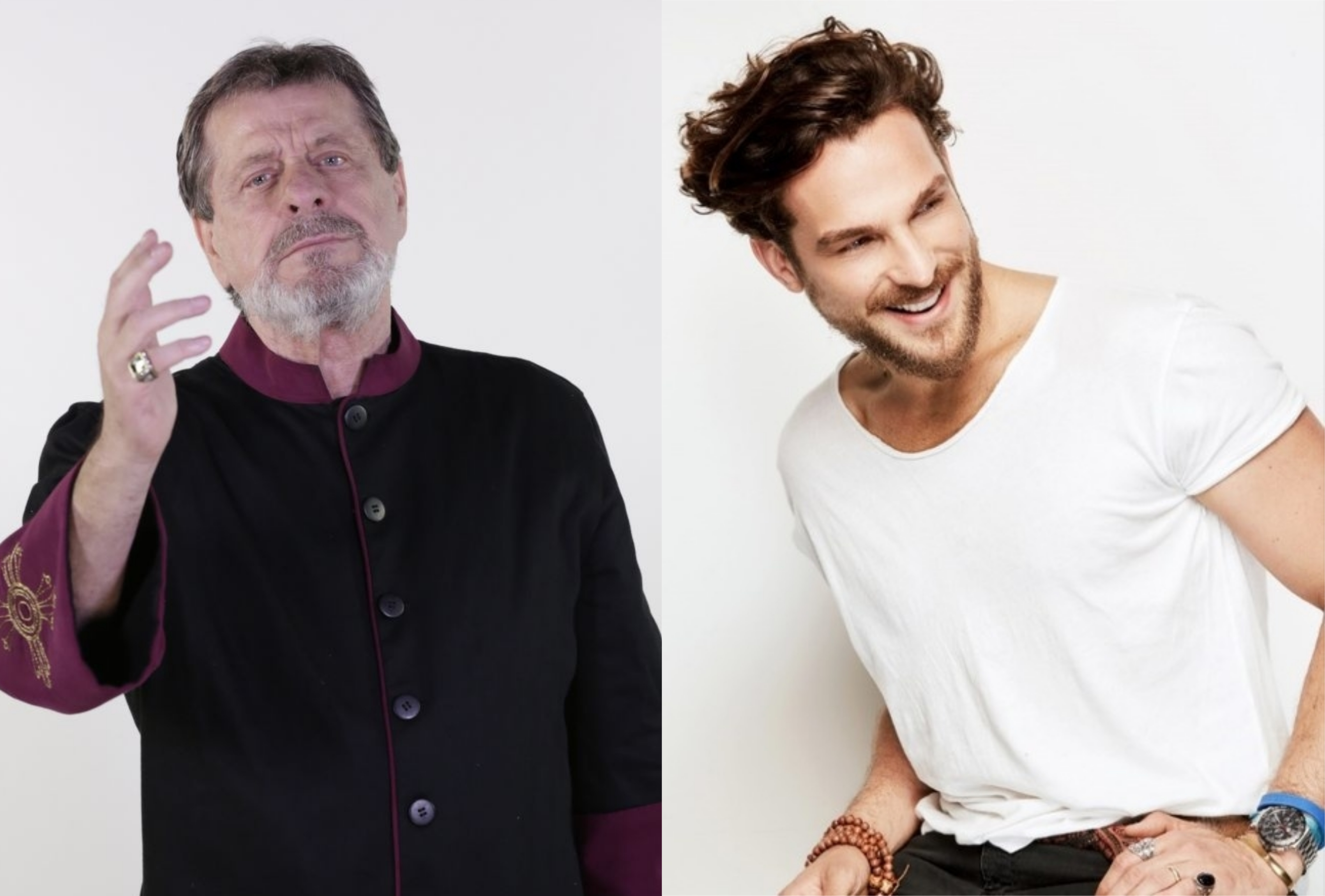 Flávio Galvão e Igor Rickli que fizeram Apocalipse juntos serão Deus e Lúcifer em Gênesis da Record TV (Montagem: TV Foco)