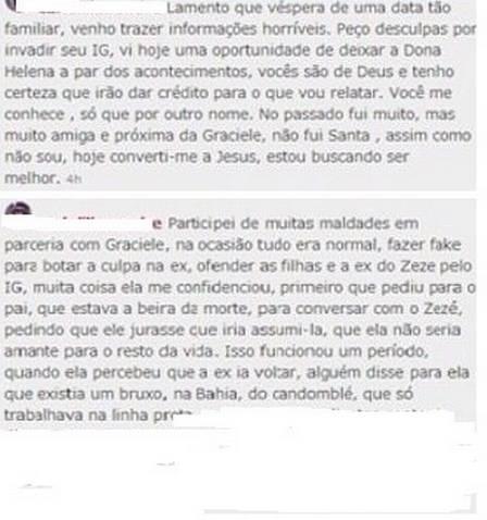 Graciele Lacerda se envolve em trabalhos ocultos para conquistar Zezé (Foto: Reprodução)