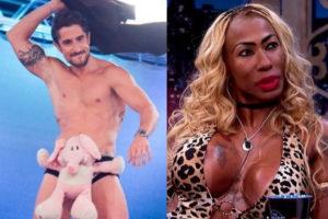 Inês Brasil entrega como Marcos Mion deve ser na cama (Montagem: TV Foco)