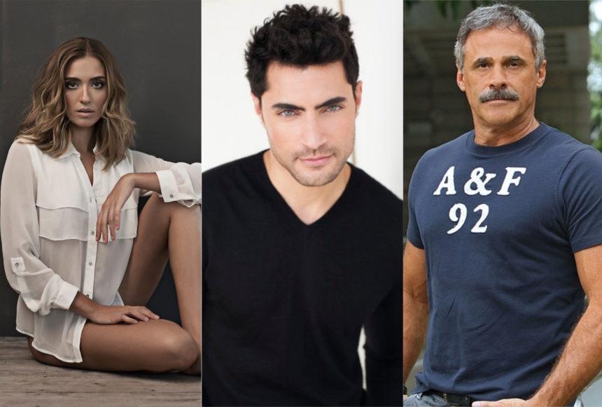 Juliana Boller, Carlo Porto e Oscar Magrini estão confirmados em Gênesis da Record TV (Montagem: TV Foco)