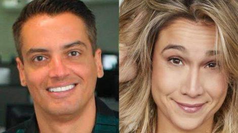 Leo Dias e Fernanda Gentil trocam alfinetadas em seus programas (Montagem: TV Foco)