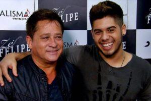 Leonardo e, um de seus seis filhos, Zé Felipe. Foto: Reprodução