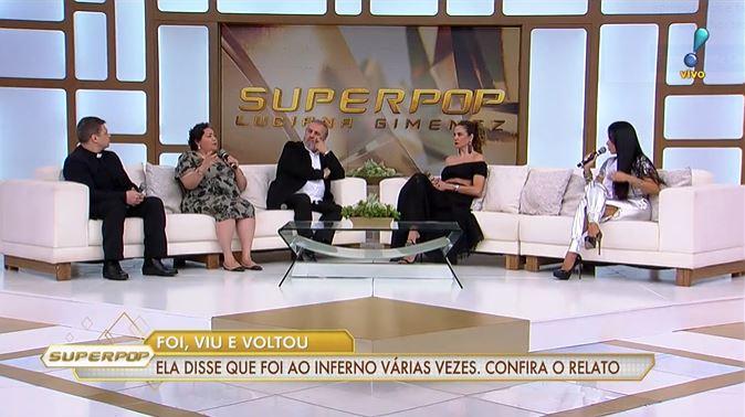 Luciana Gimenez duvidou de relato de pastora (Foto: Reprodução/RedeTV!)