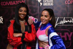 Ludmilla e Anitta na festa Combatchy no Espaço das Américas (Reprodução: Internet)