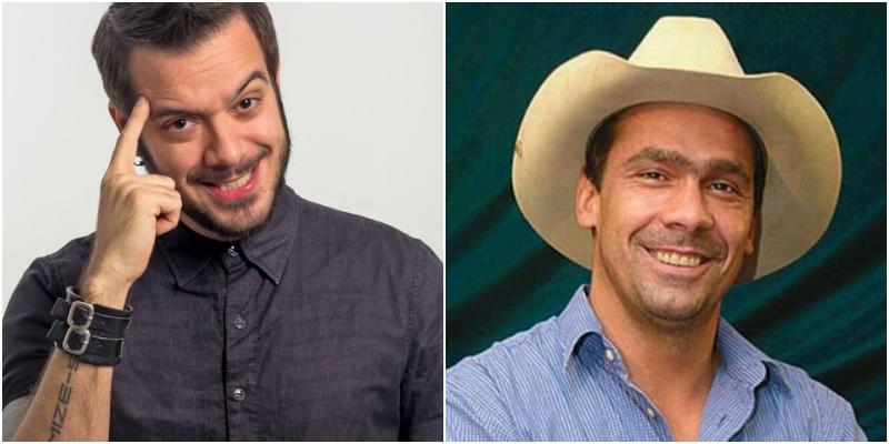 Os ex-BBBs, reality show da Globo, Max Porto e Robrigo Cowboy vão à falência (Foto: Montagem TV Foco)